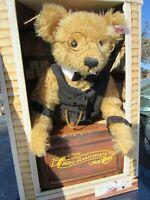 STEIFF TEDDY BEAR MOHAIR WHITE TAG EAR BUTTON 100TH ANNIVERSARY JC PENNEY W BOX