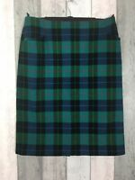 Vintage St Michael 100% Wool Checked Skirt Shooting Country Size UK 16
