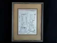 "Walt Disney Artist Bud Rickert Original Ink Sketch ""Winter's Best Friend"" Rare"