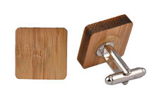 Wooden Cufflinks Square