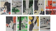 CATHELIN Bernard : Conspiration - 9 LITHOGRAPHIES originales #1967 #MOURLOT