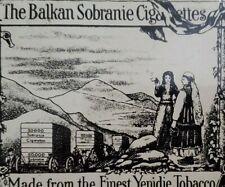 Old Vintage Cigarette Tobacco Advertising Tin Pocket Case Balkan Sobranie Empty