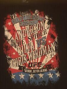 2013 UFC 162 Middleweight Championship Shirt 2XL Anderson Silva Chris Weidman