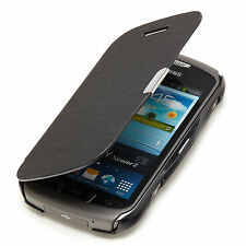 Samsung Galaxy Xcover 2 s7710 SLIM FLIP CASE CUSTODIA ASTUCCIO NERO a9