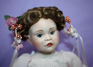 "14"" Porcelain Doll ~ Real Eyelashes Beautiful Eyes ~ Paradise Galleries?"