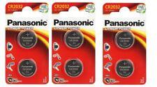 ENVOI AVEC SUIVI - PANASONIC Lot de 6 piles  CR2032 Lithium 3V  DLC 2027