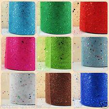 "TULLE 6""(15 cm) x 1m Metre Sparkle Glitter tutu Ribbon Lace Wedding Bow Craft"