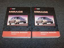 2002 Mitsubishi Mirage Shop Service Repair Manual Book Set DE ES LS 1.5L 1.8L