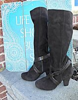 UNISA Suede Tall Fashion Boots, Heeled  EU Size 37, US 6.5, Brown, near mint
