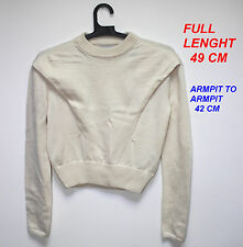 bruno pieters weekday + lady woman pullover langarm gr s small beige farbe