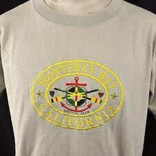 Monterey Bay Nautical Gear Vtg L T-Shirt Large Mens Sewn Anchor CA Souvenir USA