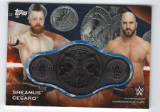 SHEAMUS & CESARO 2019 TOPPS WWE SMACKDOWN CHAMPIONSHIP BELT RELIC MEDALLION /50