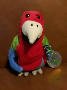 Coca-Cola Coke Barrot Parrot Brazil Bird Bean Bag Stuffed Plush NWT 1998