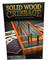 Solid Wood Folding Cribbage Game Set - COMPLETE - LNIB - Cardinal