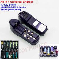 Universal Battery Charger for 1.2V 3.6V 9V Ni-Mh Ni-Cd Lithium LI-ion Battery