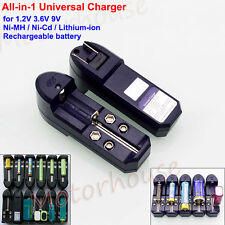 All-in-1 Universal Battery Charger for 1.2V 3.6V 9V Ni-Mh Ni-Cd Lithium Battery