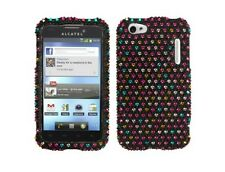 Hard Plastic Diamond Sprinkle Dots Cover Phone Case for Alcatel One Touch 995