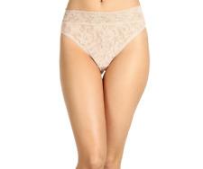 Hanky Panky Beige Signature Lace French Bikini Underwear Women's Size XL 1884