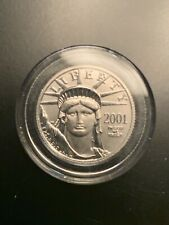 2001 $25 Platinum American Eagle 1/4 Oz