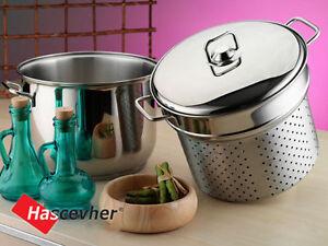 Stainless Steel Spaghetti Pasta Pot Pan Set Stockpot Strainer Induction Base