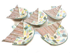 5 Carol McNicoll Glazed Pottery Round Bowls, 20th Century