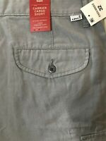 "NWT Levis 32 x 9.5"" Gray Carrier Ripstop Cargo Shorts 100% Cotton"