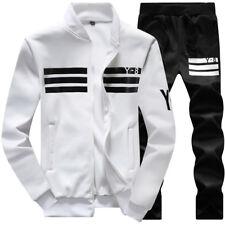 2Pcs Fashion Mens Spring Casual Sports Suit Tracksuit Jogging Athletic Coat Pant