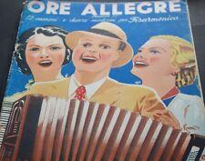 ore allegere carsico s.a. Milano 1945 Italy Italian Music Book vintage music