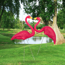 100CM Pair Of Pink Lawn Pond Flamingo Plastic Garden Party Ornaments Decor
