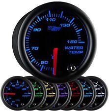52mm Metric GlowShift Black 7 Color Celsius Water Temperature Gauge - GS-B706-C