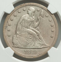 1869 Seated Liberty Dollar, NGC Extra Fine Detail (Cleaned). Rarity 4.5!