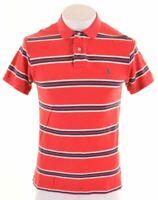 POLO RALPH LAUREN Mens Polo Shirt Medium Red Striped Cotton  ML16