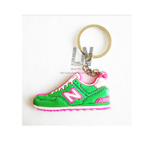 Jordon Basketball Sneaker Shoe Keychain Keyring Gift NEW Green & Pink