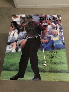 Tiger Woods Signed 16x20 Poster(JSA)