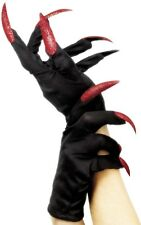Ladies Witch Finger Nails Halloween Horror Fancy Dress Costume Outfit Gloves