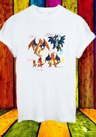 Charizard Charmeleon Charmander Lizardon Pokemon  Men Women Unisex T-shirt 2723
