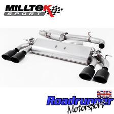 """Milltek Golf R MK7.5 Exhaust Cat Back 3"""" VALVED Res Black Ovals SSXVW422 2017 on"""