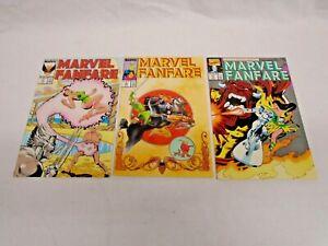 MARVEL FANFARE COMICS 33 34 & 51