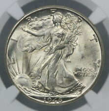 NGC MS62 1946-D WALKING LIBERTY SILVER HALF DOLLAR 50c    (BC02)
