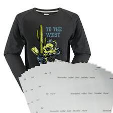 10PCS A4 SIZE DARK HEAT TRANSFER PAPER INKJET PRINTING FOR COTTON T SHIRTS