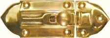 Polished Cast Brass Cabinet Latch antique vintage fancy gold steamer