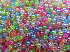 LOT DE 250 PERLES NACREES ACRYLIQUES MULTICOLORES Ø 4 mm - CREATION BIJOUX