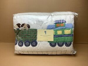 Pottery Barn Kids Train Junction Quilt - Full/Queen - Dog Puppy Train - F/Ship