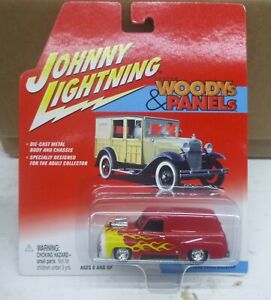 """JOHNNY LIGHTNING 1/64 """"WOODIES & PANELS"""" 1955 FORD PANEL DELIVERY VAN"""