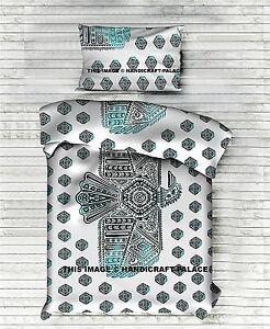 Indien Coton Aigle Imprimé Literie Bohème Tapisserie Double Couvre-Lit Avec 1