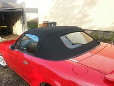 mazda mx5 black mohair soft top hood with glass heated rear window