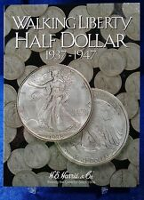 HE Harris Walking Liberty Half Dollar #2 1937-1947 Coin Folder, Album Book #2694