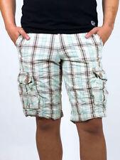 Karierte Herren-Shorts & -Bermudas im Cargo-Hosengröße W30