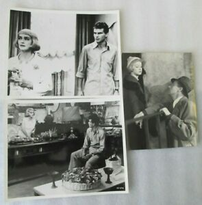 2 Bette Davis 8 x 10 inch Photo stills from 1963 & 1 for 1934 6 1/4 x 8 1/2 inch