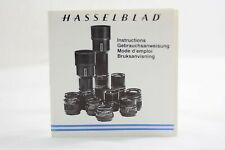 Hasselblad Camera Lens Instruction Manual